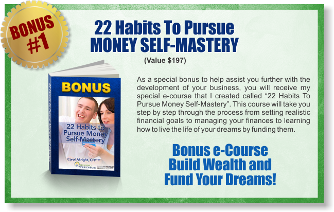 Marketing Your Dreams Now - Bonus 1